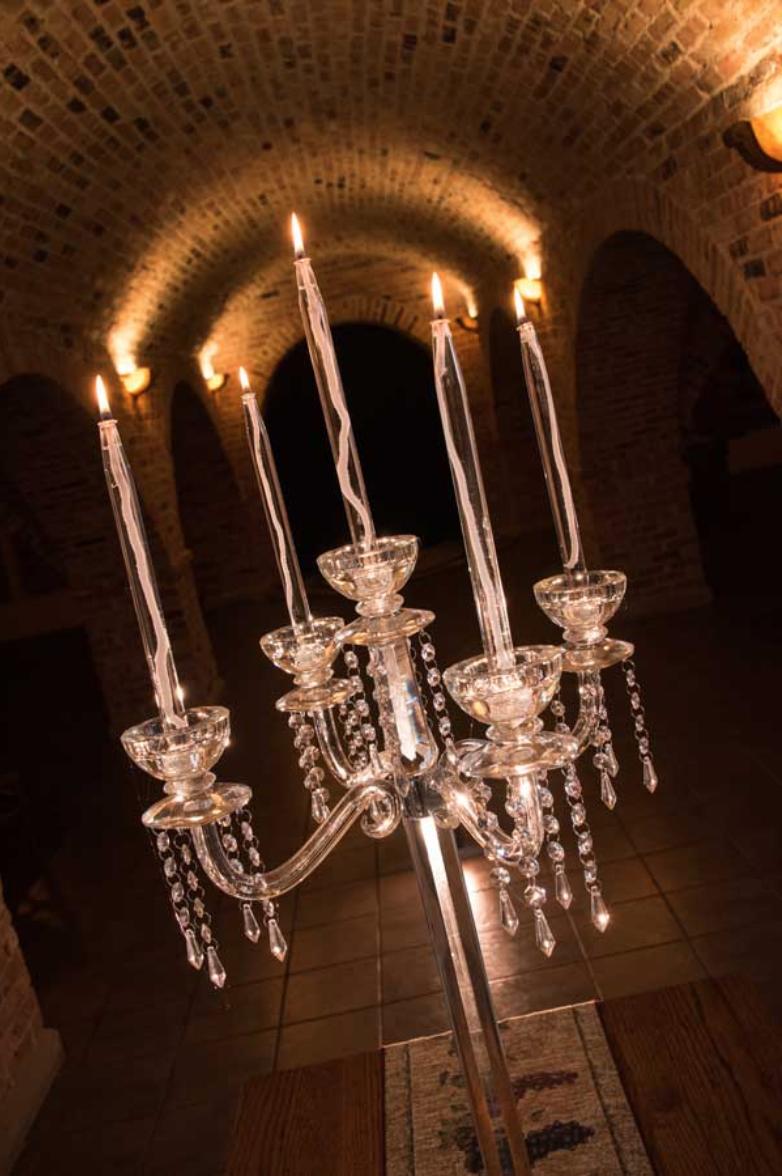 Elegant Crystal Candelabra